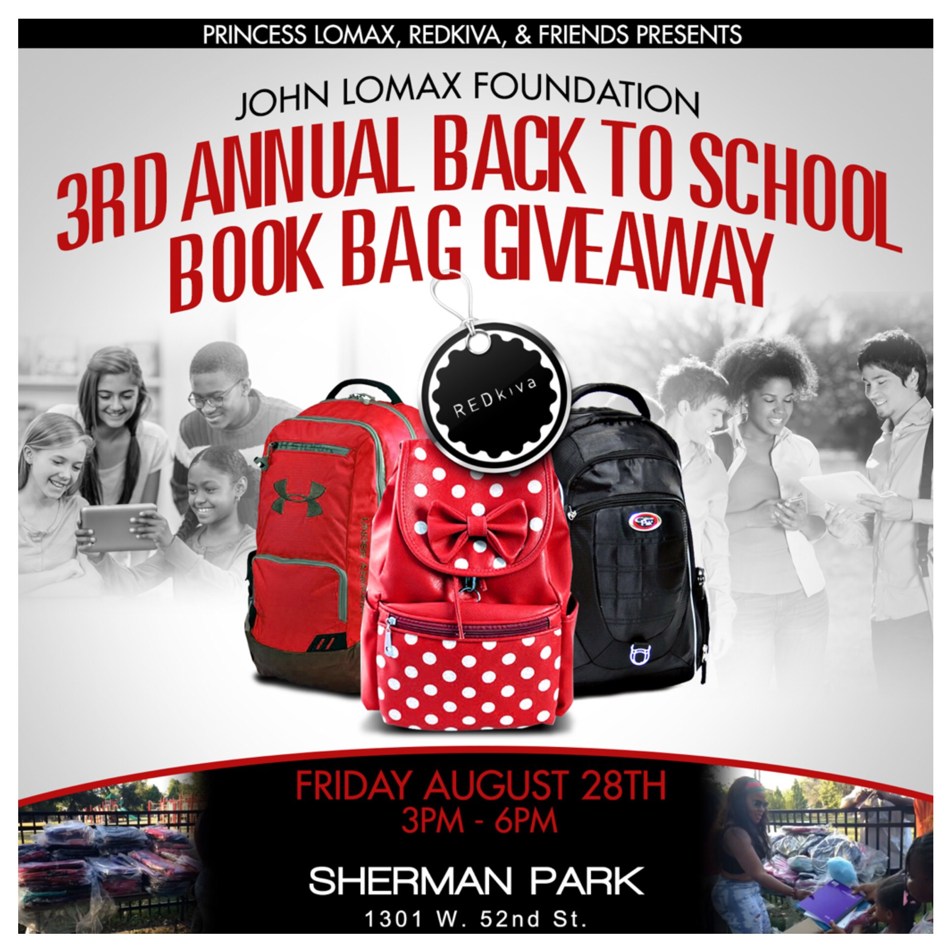 3rd Annual Back To School Book Bag Giveaway